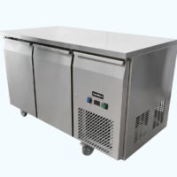 Two door under bench freezer on castors