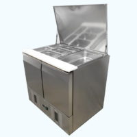FREE STANDING REFRIGERATED SALAD BAR FRIDGE