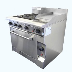 Gas Four Burner Cooktop w 300mm hotplate w Oven