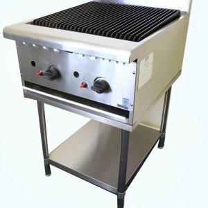 Gas Chargrill 900mm wide on stand
