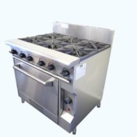 GAS SIX BURNER COOKTOP WITH OVEN