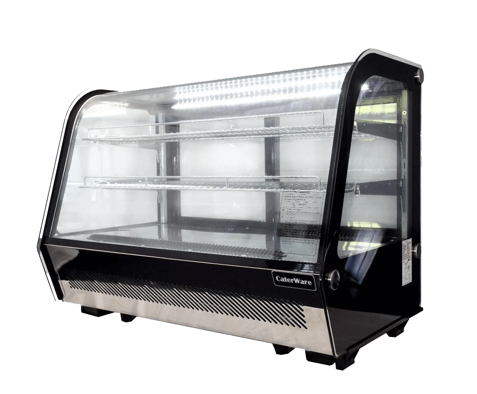 New Heated Black Counter-top Food Display Warming Showcase With Water Pot