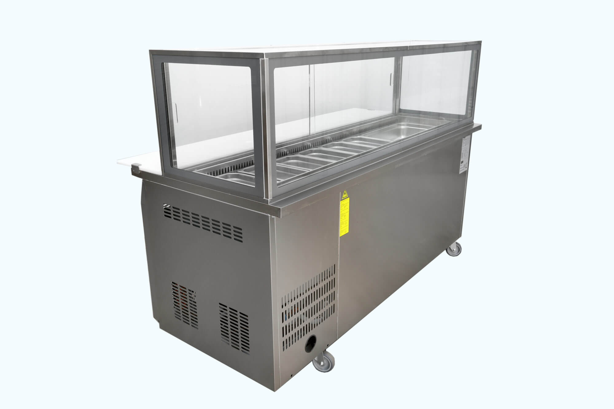 Three Door Refrigerated Showcase On Castors Caterware