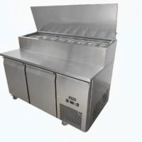 Two Door Pizza Preparation Fridge on Castors