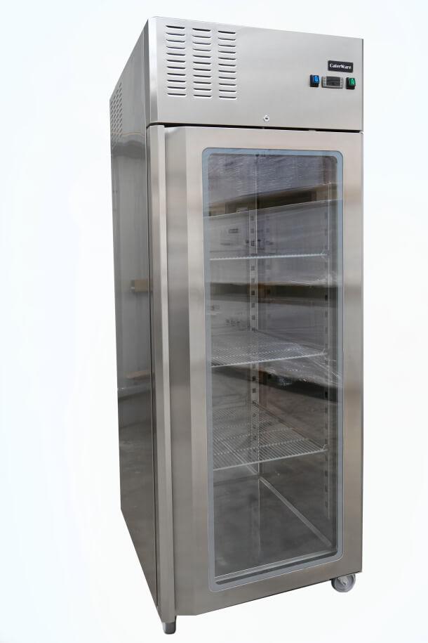 Single Glass Door Upright Freezer On Castors Caterware Australia