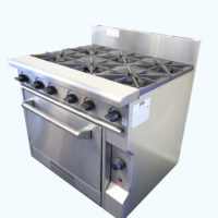 Six Burner Gas Cooktop with Oven