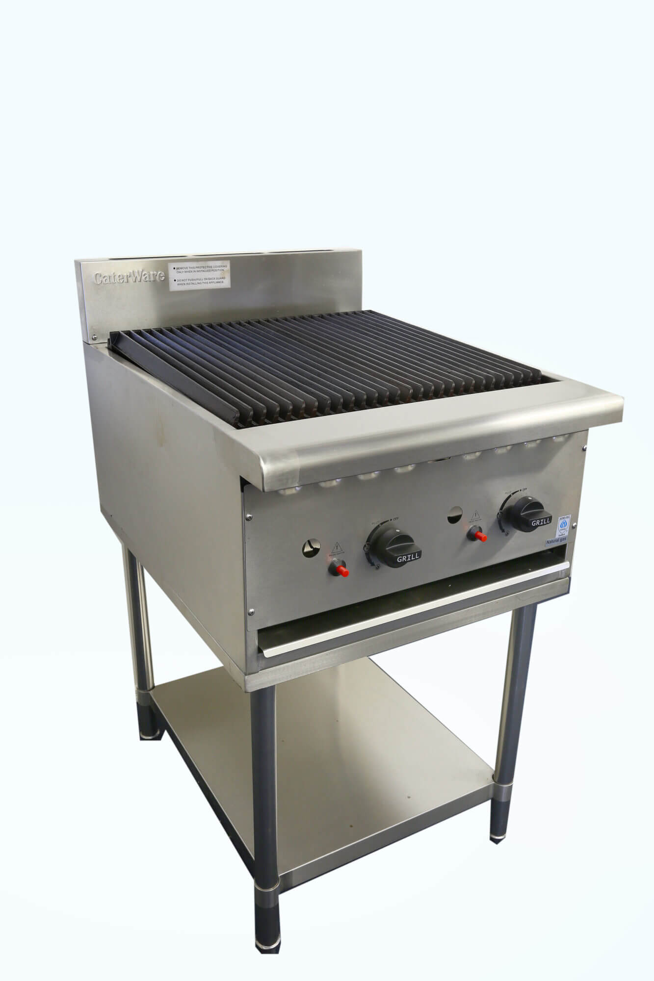 Gas Chargrill On Stand 900 Mm Wide Caterware Australia