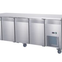 Four Door Under Bench Fridge on Castors