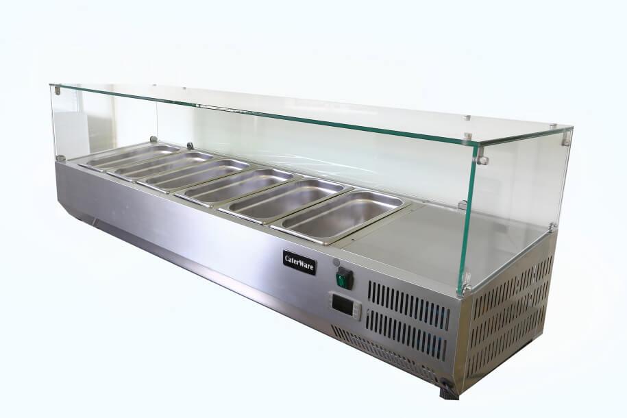 counter top refrigerated display fridge 1500 length. Black Bedroom Furniture Sets. Home Design Ideas